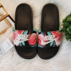 Custom bling tropical Nike Slides Benassi